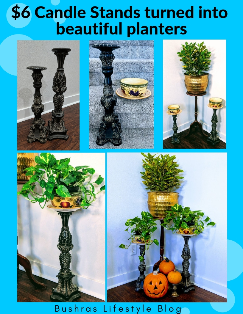 candle holder planters