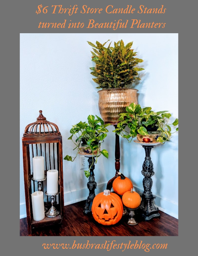 DIY Candle Stands Planters